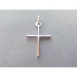 Zlatý prívesok krížik biele zlato VI124B 14 karátov 585/1000 1,24g
