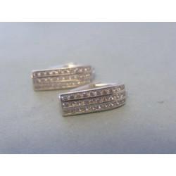 Zlaté dámske náušnice zirkóny biele zlato VA253B 14 karátov 585/1000 2,53g