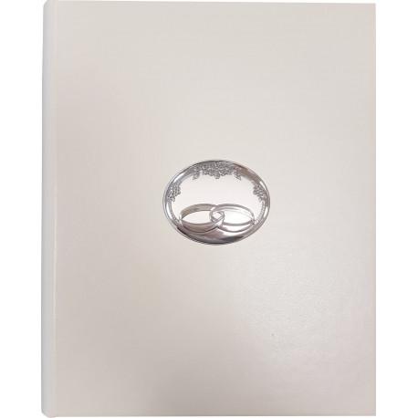 Strieborný svadobný fotoalbum biely VL53562