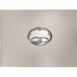 Strieborný svadobný fotoalbum biely VL53561