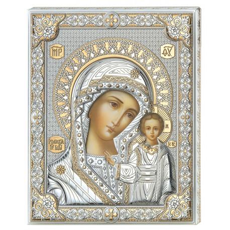 Strieborný obraz Madonna pozlatený 85302/6LORO