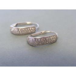 Zlaté dámske náušnice biele zlato zirkóny VA255B 14 karátov 585/1000 2,55g