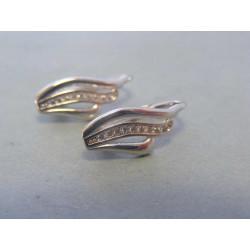 Zlaté dámske náušnice zirkóny biele zlato VA223B 14 karátov 585/1000 2,23g
