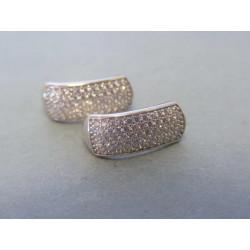 Zlaté dámske náušnice biele zlato zirkóny VA261B 14 karátov 585/1000 2,61g