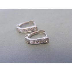 Zlaté dámske náušnice biele zlato zirkóny VA127B 14 karátov 585/1000 1,27g