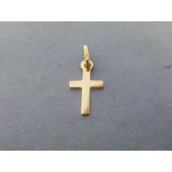 c956e9a57 Zlatý prívesok krížik žlté zlato hladký VA030Z 14 karátov 585/1000 0,30g