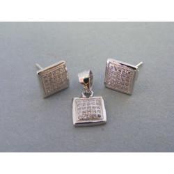 Strieborná dámska súprava kocka zirkóny VSS241 925/1000 2,41g