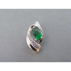 Strieborný dámsky prívesok zelené očko VIS175 925/1000 1,75g