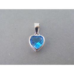 Strieborný dámsky prívesok modré srdiečko VIS111 925/1000 1,11g