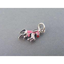 Strieborný detský prívesok koník ružový VIS108 925/1000 1,08g