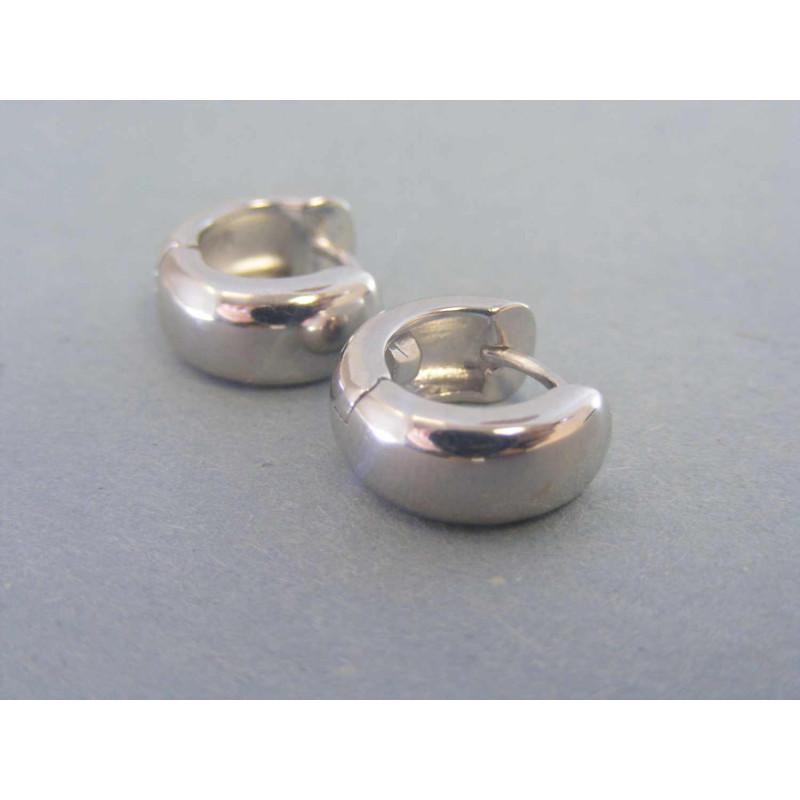 bcdb09613 Strieborné dámske náušnice krúžky hladké VAS278 925/1000 2,78g. Loading zoom
