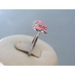 Strieborný detský prsteň motýľ ružový DPS47169 925/1000 1,69g