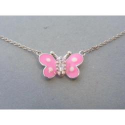 Strieborná detská retiazka motýľ DRS425263 925/1000 2,63g