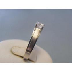 Zlatý dámsky prsteň zirkón biele zlato VP56245B 14 karátov 585/1000 2,45g