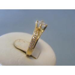 Zlatý dámsky prsteň žlté zlato zirkóny VP51233Z 14 karátov 585/1000 2,33g