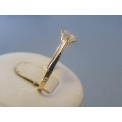 Zlatý dámsky prsteň žlté zlato zirkón VP58147Z 14 karátov 585/1000 1,47g