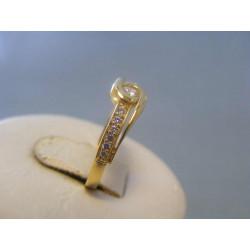 Zlatý dámsky prsteň zirkóny žlté zlato VP51230Z 14 karátov 585/1000 2,30g