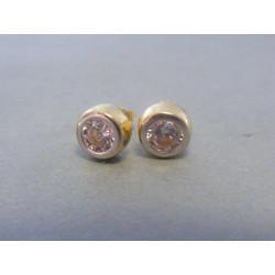 Zlaté dámske náušnice napichovačky biele žlté zlato VA262V 14 karátov 585/1000 2,62g