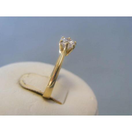 Zlatý dámsky prsteň zirkón žlté zlato VP49177Z 14 karátov 585/1000 1,77g