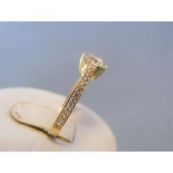 Zlatý dámsky prsteň žlté zlato zirkóny DP55192Z 14 karátov 585/1000 1,92g