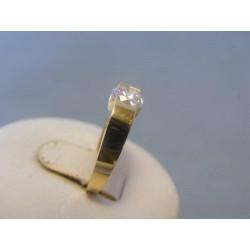Zlatý dámsky prsteň zirkón DP51217 14 karátov 585/1000 2,7g