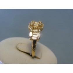 Zlatý dámsky prsteň zirkóny žlté zlato DP55316Z 14 karátov 585/1000 3,16g