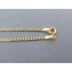 Zlatá retiazka vzor pancier žlté zlato DR45297Z 14 karátov 585/1000 2,97g