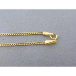 Zlatá retiazka vzor pancier žlté zlato DR45130Z 14 karátov 585/1000 1,30g