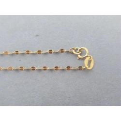 Zlatá dámska retiazka vzorovaná žlté zlato DR45079Z 14 karátov 585/1000 0,79g