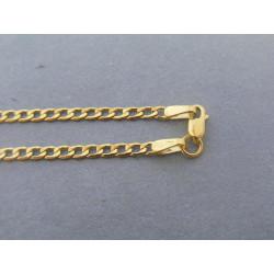 Zlatá retiazka vzor pancier žlté zlato DR56240Z 14 karátov 585/1000 2,40g