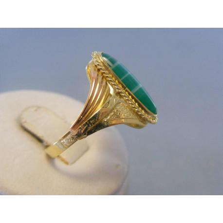Zlatý dámsky prsteň kameň žlté červené zlato DP63483V 14 karátov 585/1000 4,83g