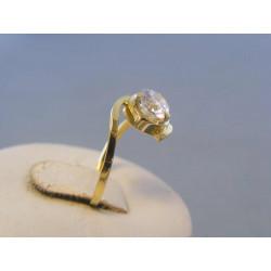 Zlatý dámsky prsteň zirkón žlté zlato DP5219Z 14 karátov 585/1000 2,19g