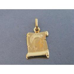 Zlatý prívesok Panna Mária Ježiš žlté zlato DI085Z 14 karátov 585/1000 0,85g