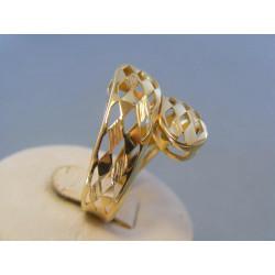 Zlatý dámsky prsteň vzorovaný žlté zlato DP62403Z 14 karátov 585/1000 4,03g