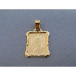 Zlatý prívesok sv. obrázok žlté zlato DI089Z 14 karátov 585/1000 0,89g