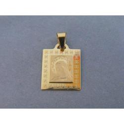 Zlatý prívesok Panna Mária žlté zlato DI096Z 14 karátov 585/1000 0,96g