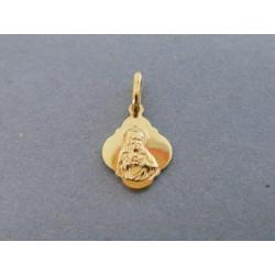 Zlatý prívesok sv. obrázok žlté zlato DI083Z 14 karátov 585/1000 0,83g
