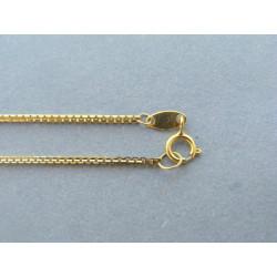 Zlatá dámska retiazka vzorovaná žlté zlato DR45298Z 14 karátov 585/1000 2,98g