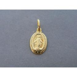 Zlatý prívesok sv. obrázok žlté zlato DI078Z 14 karátov 585/1000 0,78g
