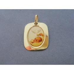 Zlatý prívesok motív krstu žlté zlato DI125Z 14 karátov 585/1000 1,25g