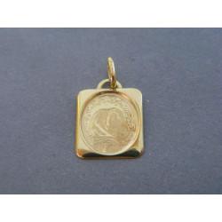 Zlatý prívesok žlté zlato sv. obrázok žlté zlato DI080Z 14 karátov 585/1000 0,80g