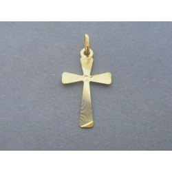 Zlatý prívesok krížik vzorovaný žlté zlato DI057Z 14 karátov 585/1000 0,57g