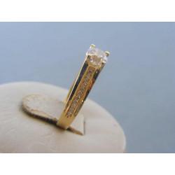 Zlatý dámsky prsteň žlté zlato zirkóny DP53220Z 14 karátov 585/1000 2,20g