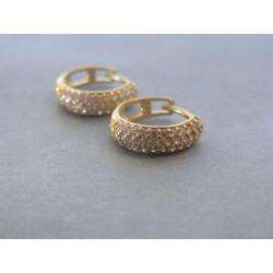 Zlaté dámske náušnice krúžky biele žlté zlato DA220 14 karátov 585/1000 2,20g