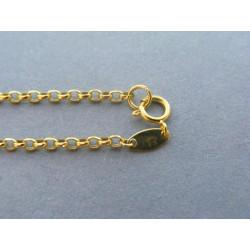 Zlatá retiazka ručný vzor žlté zlato DR45175Z 14 karátov 585/1000 1,75g