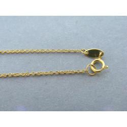 Zlatá retiazka ručný vzor žlté zlato DR42069Z 14 karátov 585/1000 0,69g