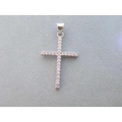 Zlatý dámsky prívesok krížik zirkóny DI105 14 karátov 585/1000 1,05g
