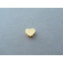 Zlatý dámsky prívesok srdiečko otváracie  VDI071 14 karátov 585/1000 0,71g