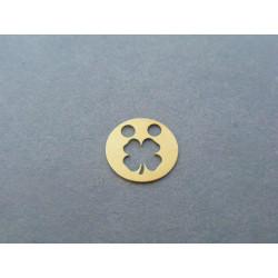 Zlatý prívesok kolečko štvorlístok žlté zlato DI016Z 14 karátov 585/1000 0,16g