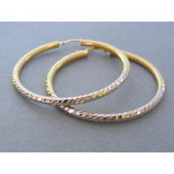Zlaté dámske náušnice kruhy biele žlté zlato DA462V 14 karátov 585/1000 4,62g